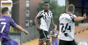 Port Vale player Manny Oyeleke
