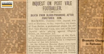 Inquest on death of Port Vale footballer