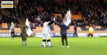 Fred Fielding on the Vale Park pitch