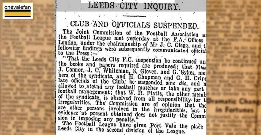 Enquiry into Leeds City