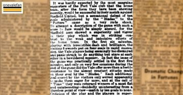 A clipping from1892 reports on Port Vale's record defeat