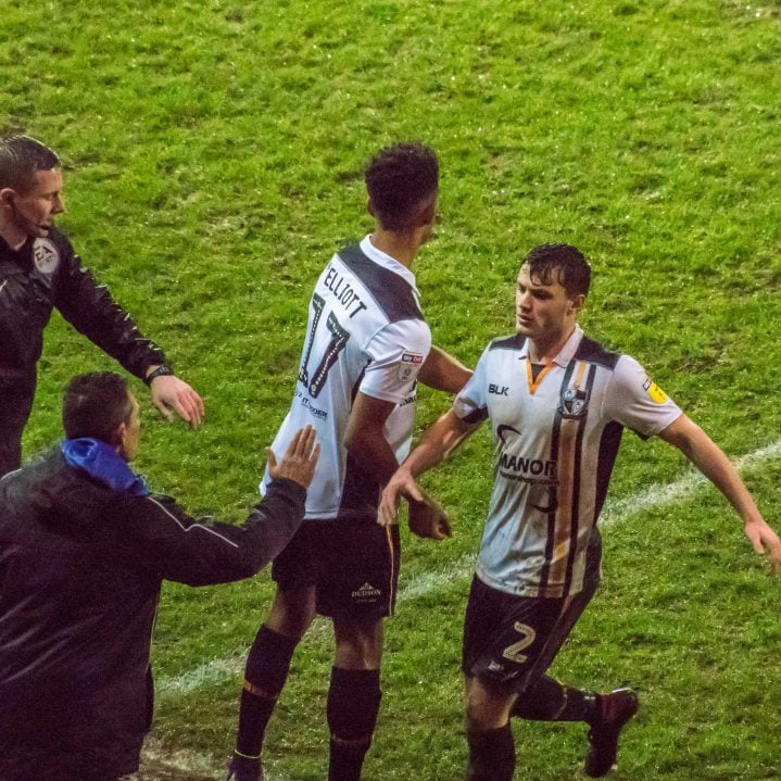 Striker Danny Elliott replaces James Gibbons