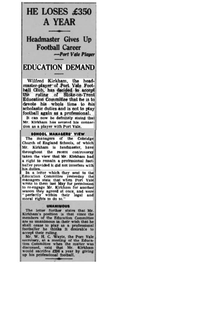 Wilf Kirkham - Birmingham Daily Gazette 02 August 1933 (1)-page-001