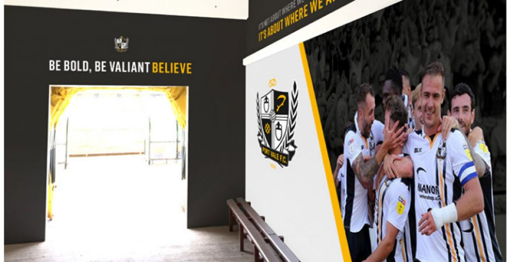 One of the proposed designs for the Vale Park stadium tunnel