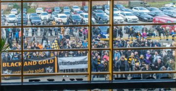 Fans protests against owner Norman Smurthwaite