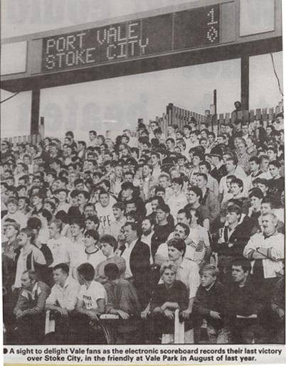 Port Vale scoreboard