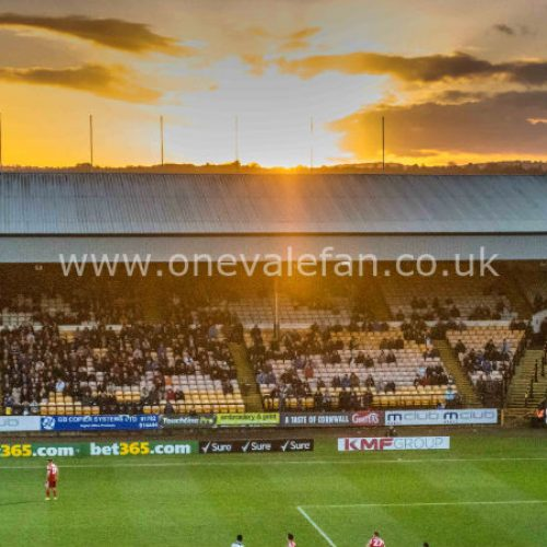 Sunset over Vale Park