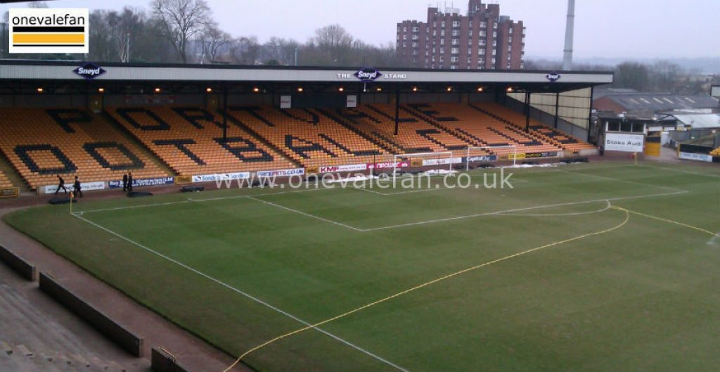 The Hamil Road stand, Vale Park stadium