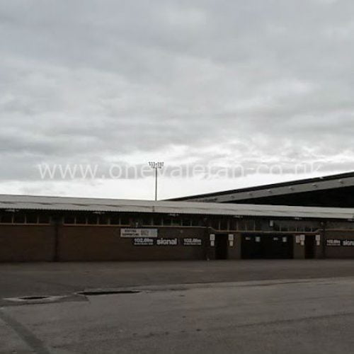The Hamil Road stand exterior, Vale Park stadium