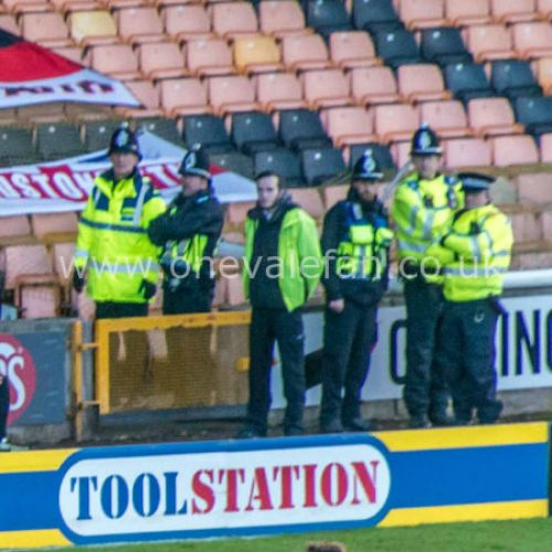 Police at Vale Park