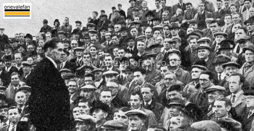 Port Vale Chairman addresses fans in 1950