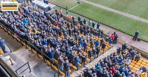 Port Vale fans in the Lorne Street stand