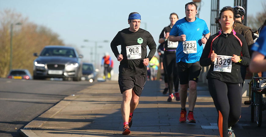 Running the Hampton Court half marathon