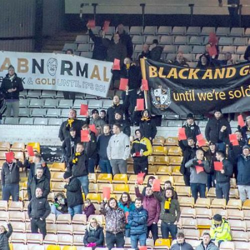 Port Vale protest banners in 2019