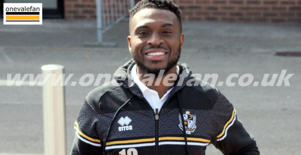 Port Vale forward David Amoo