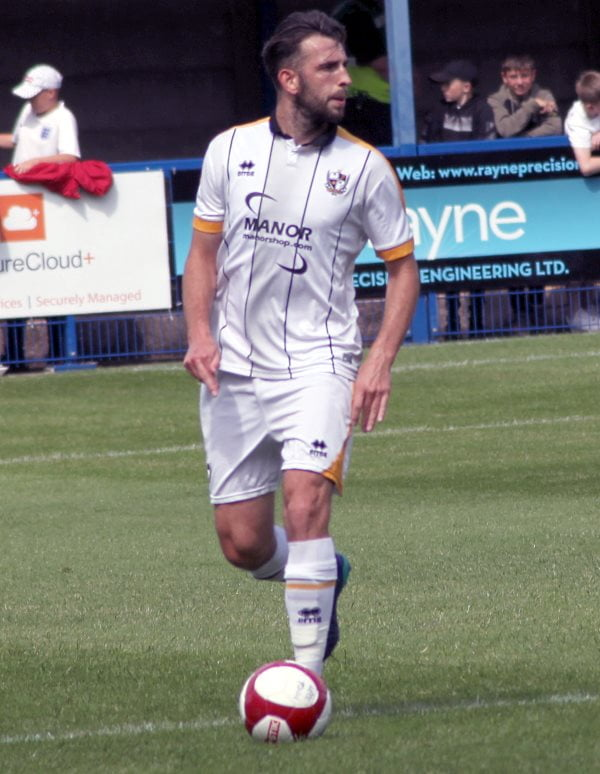 Kieran Kennedy in action during a friendly with Leek 2019