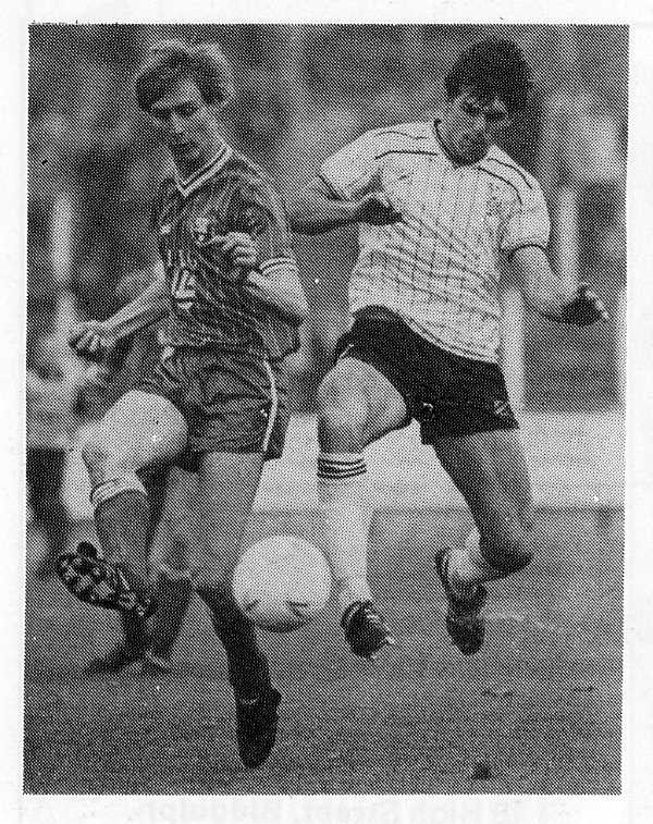 Andy Jones in action against Swindon Town in 1986