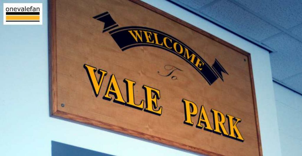 Welcome to Vale Park sign