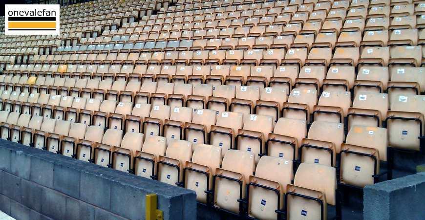 Seats at the Vale Park stadium