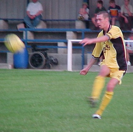 George O'Callaghan in action against Witton Albion