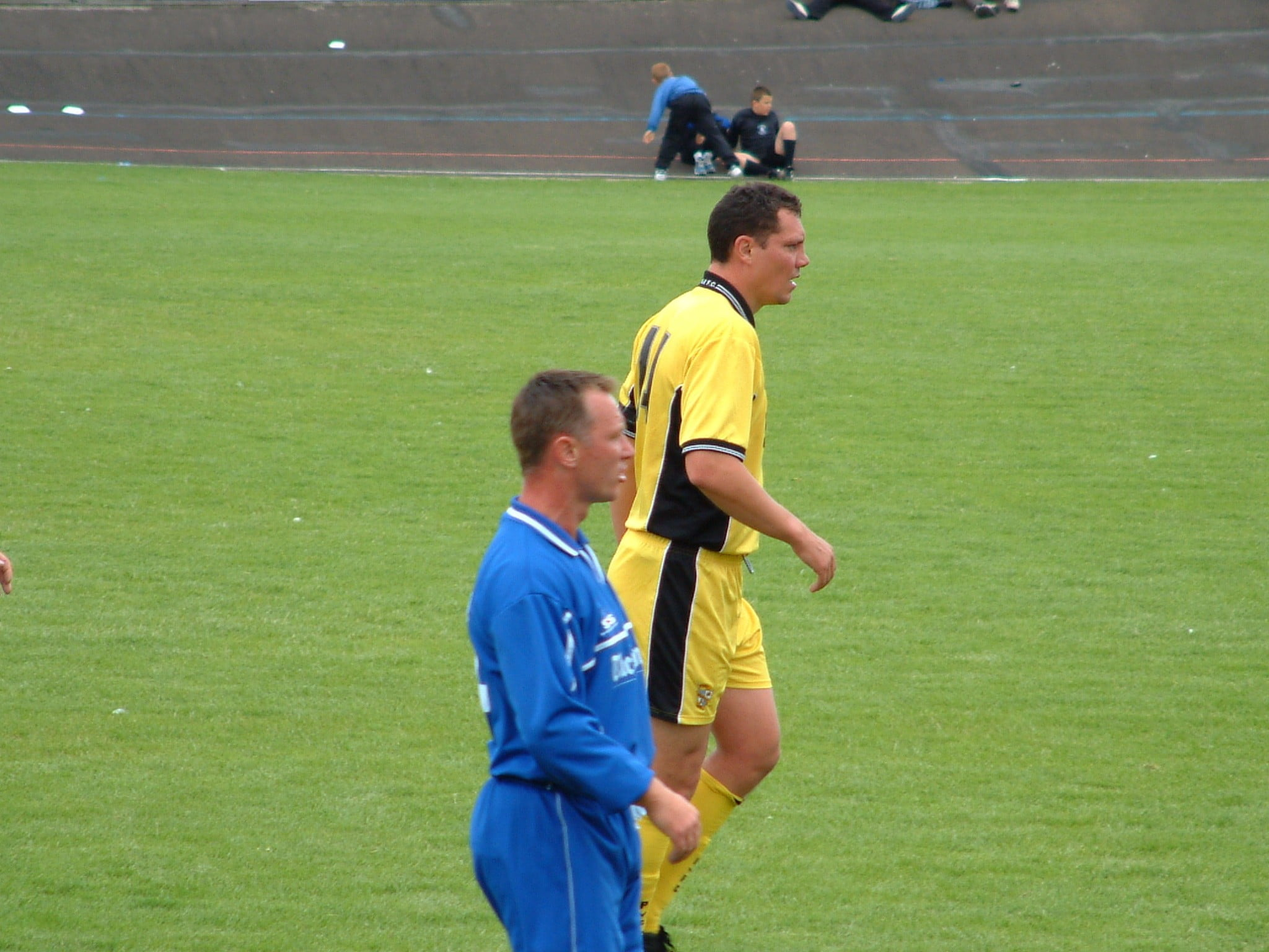 Brett Angell in action against Newcastle Town