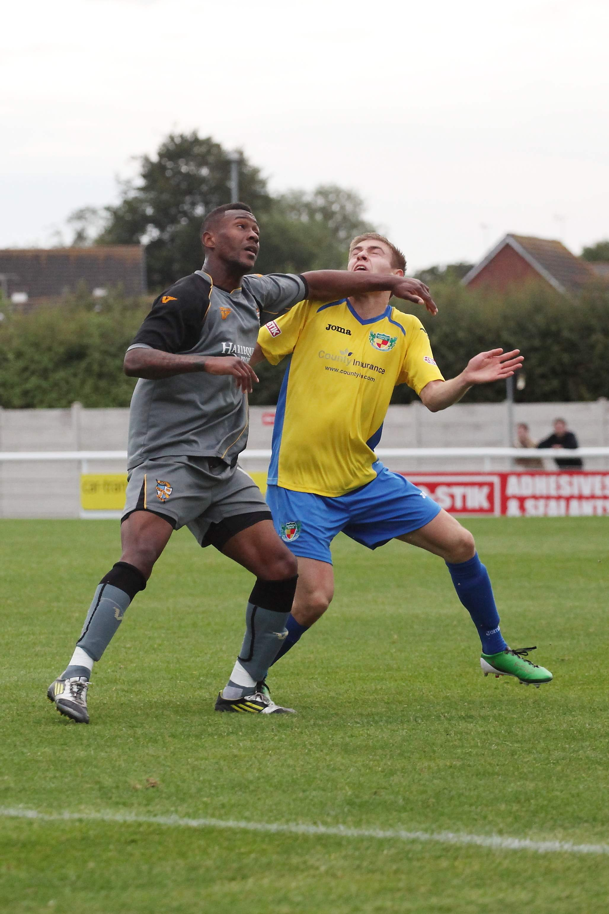 Jennison Myrie-Williams in action against Nantwich Town 2012