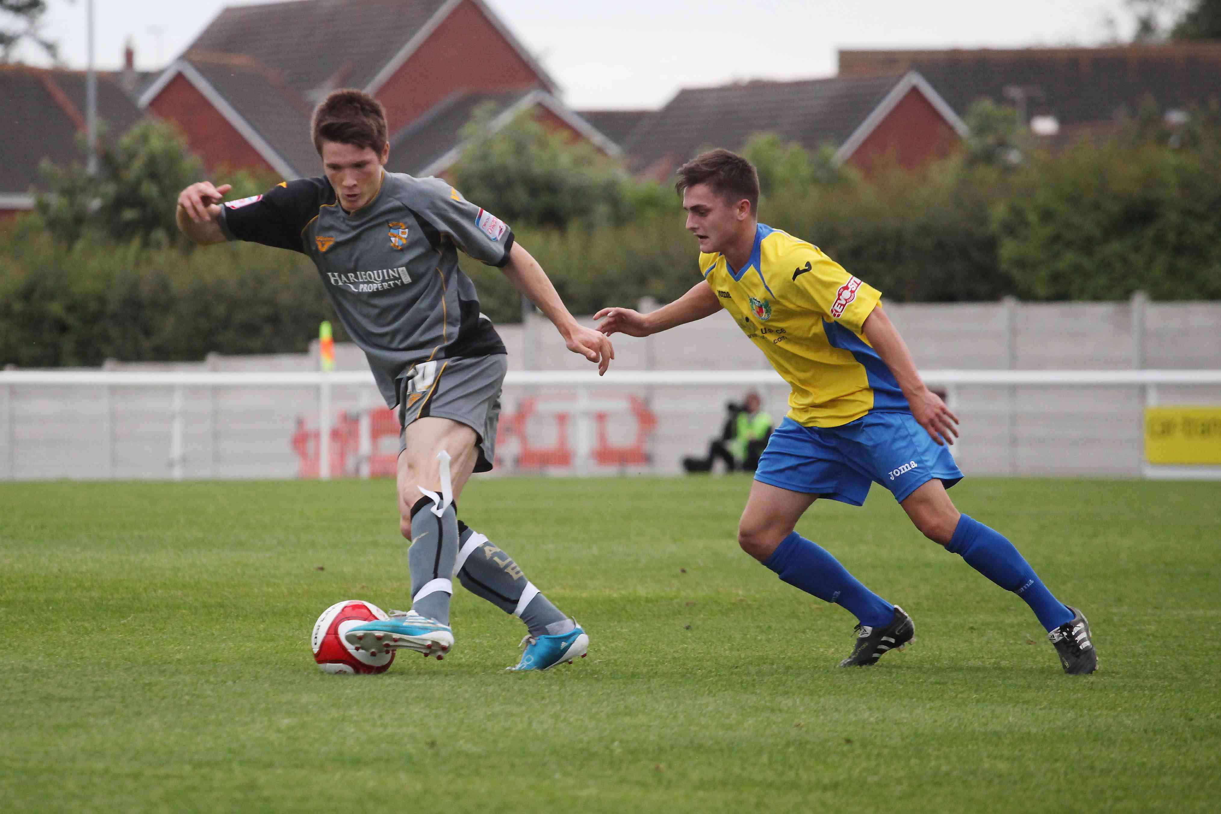 Ryan Burge in action against Nantwich Town 2012