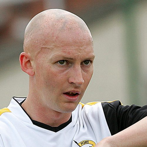 Danny Whitaker in action for Port Vale