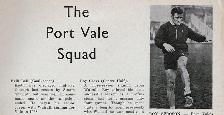 The Port Vale 1971 squad