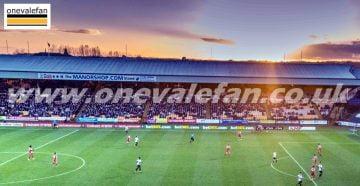 Sunset over the Railway stand, Vale Park stadium
