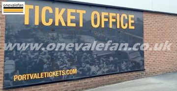 The ticket office at Port Vale's Vale Park stadium