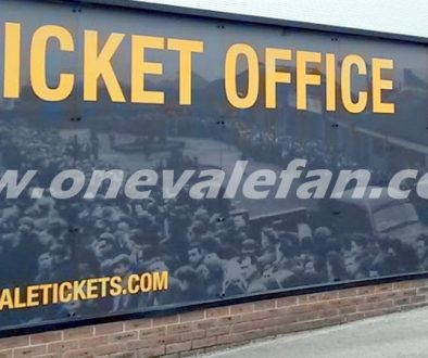The ticket office at Port Vale's Vale Park stadium