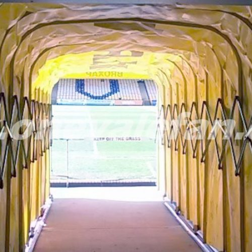 The tunnel at Port Vale's Vale Park stadium