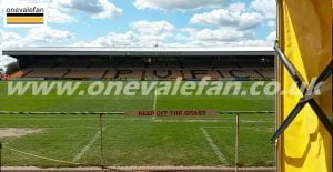 A general view of Port Vale's Vale Park stadium