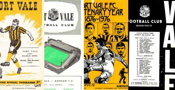 See the front covers from over 75 years of Port Vale FC programme designs