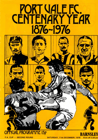 1976 Port Vale matchday programme