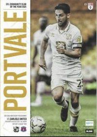 Port Vale programme 2021-22 season