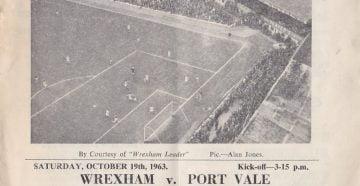 Wrexham vs Port Vale programme 1963