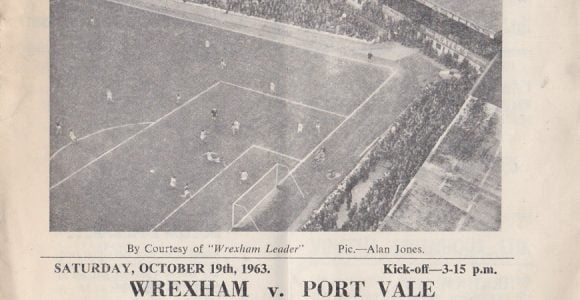 Wrexham vs Port Vale programme 1963