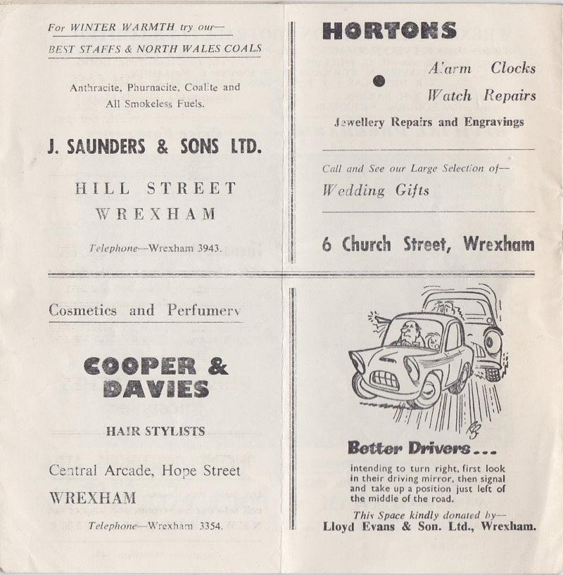 Wrexham vs Port Vale programme 1963 #8