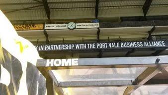 Lorne St stand Vale Park stadium