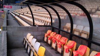Dugout at Vale Park stadium