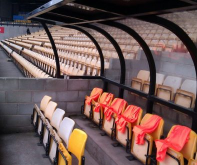 Dugout at Vale Park stadium