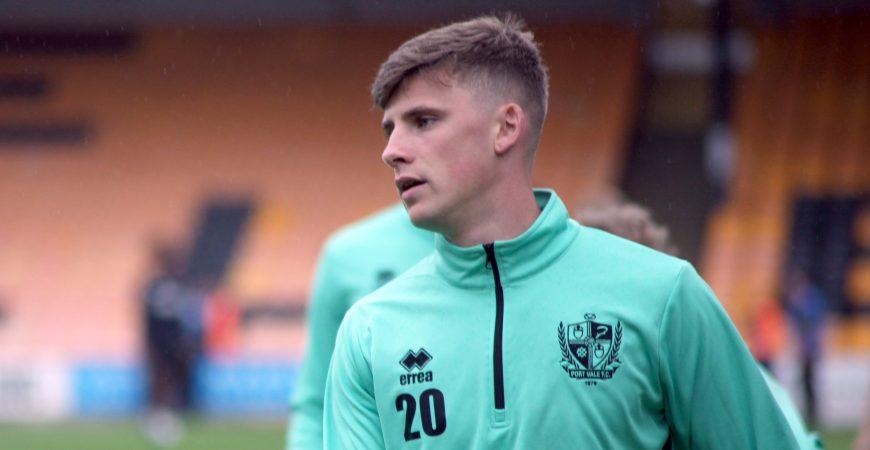 Port Vale FC midfielder Scott Burgess