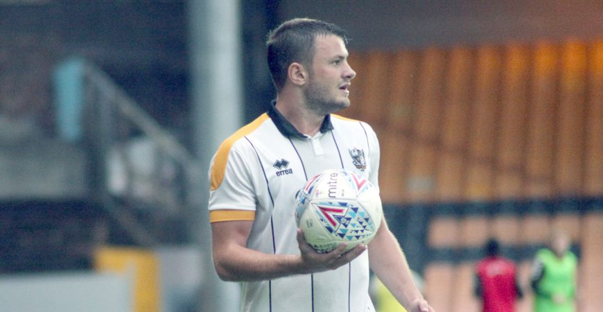Port Vale FC defender James Gibbons