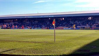 Corner flag at Vale Park stadium