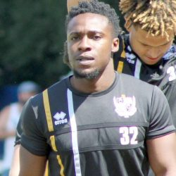 Port Vale FC midfielder Manny Oyeleke