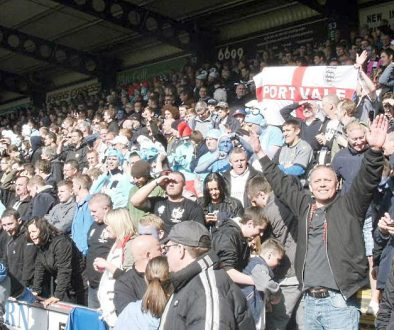 Port Vale away fans at Wycombe 2013