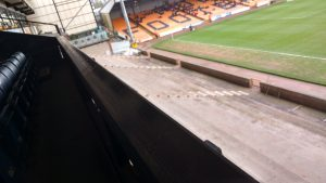 Unfinished Lorne St stand at Vale Park