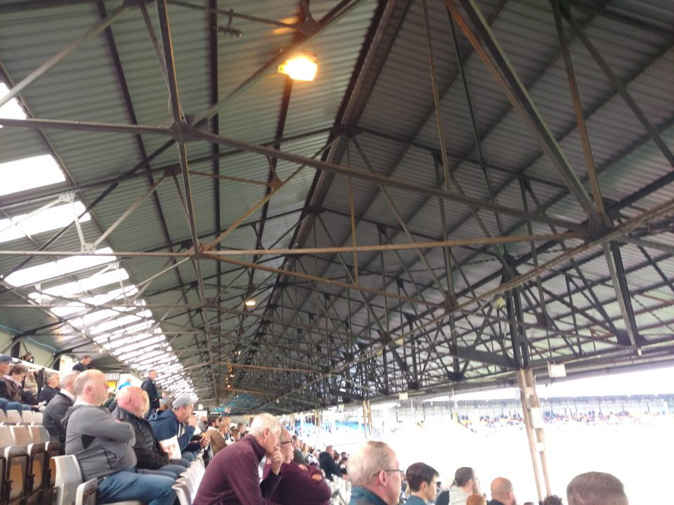Railway stand at Vale Park